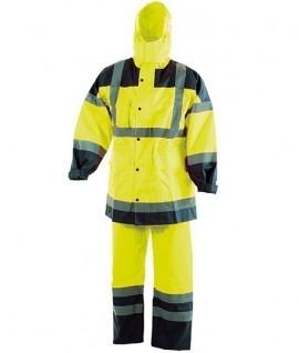 Ensemble veste + pantalon imperméable haute visibilité