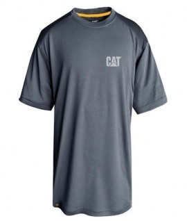T-shirt respirant gris, anti-odeur, protection UV CAT - Lepont Equipements